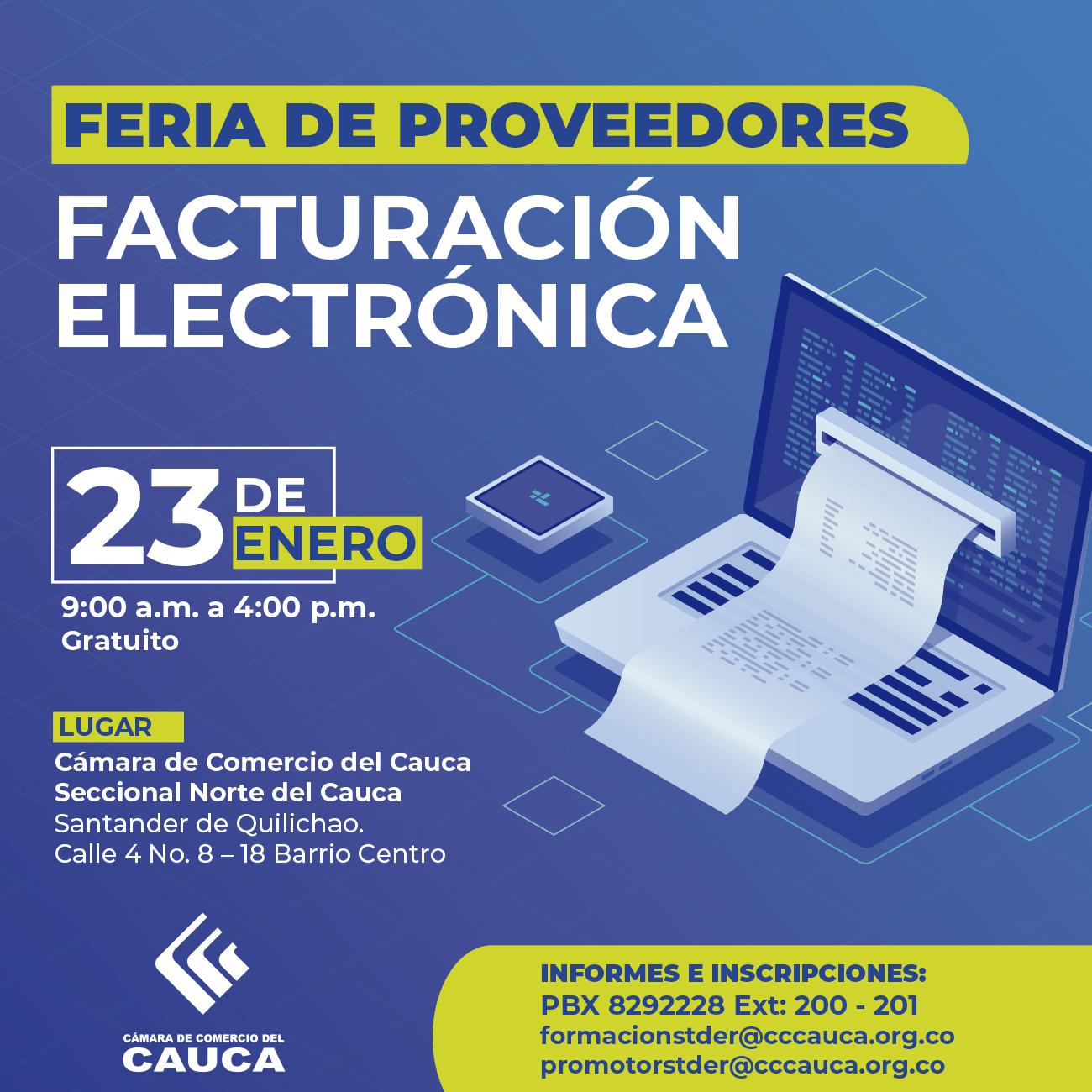Feria de proveedores: Facturación electrónica