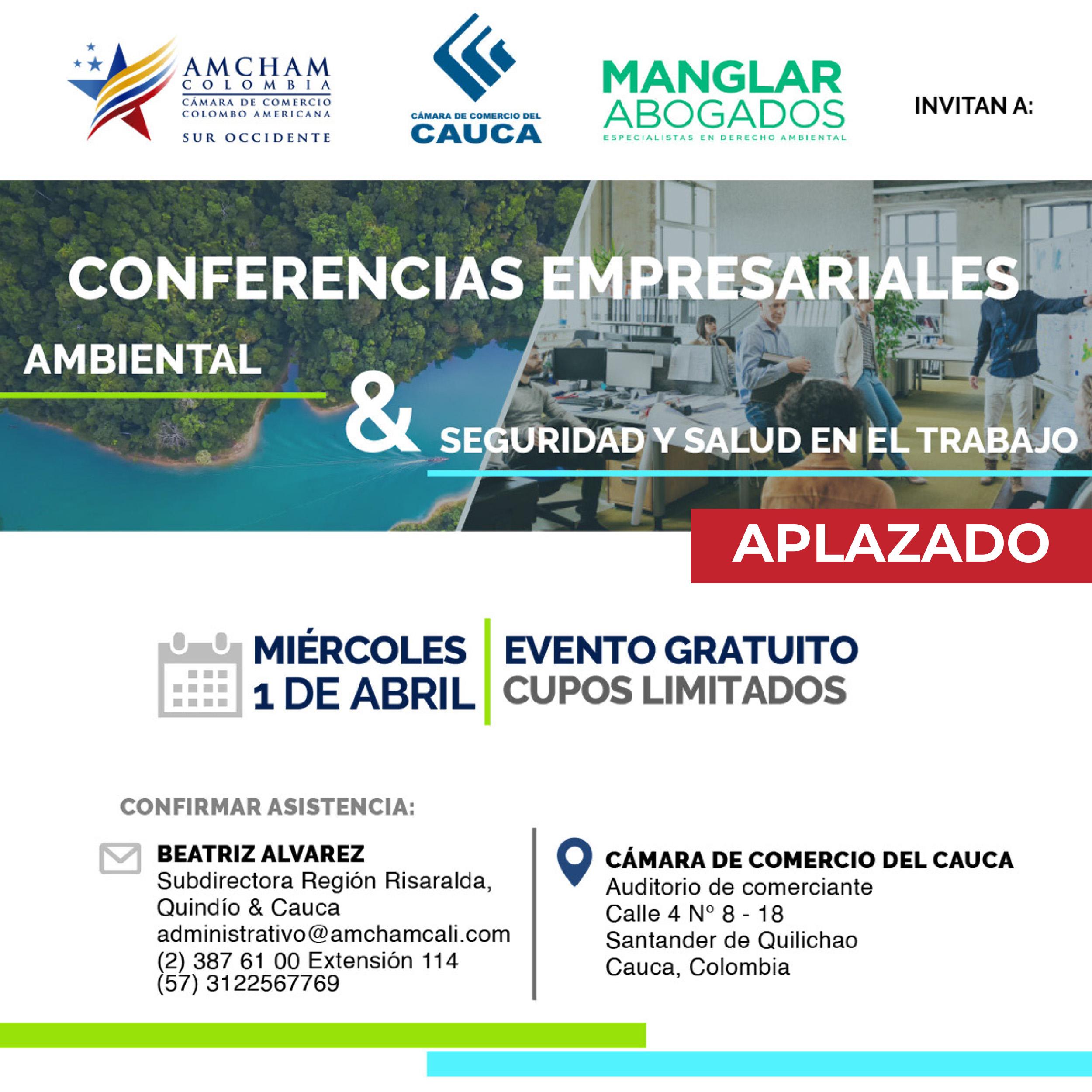 Conferencias empresariales: Ambiental, Seguridad y Salud en el Trabajo - Santander