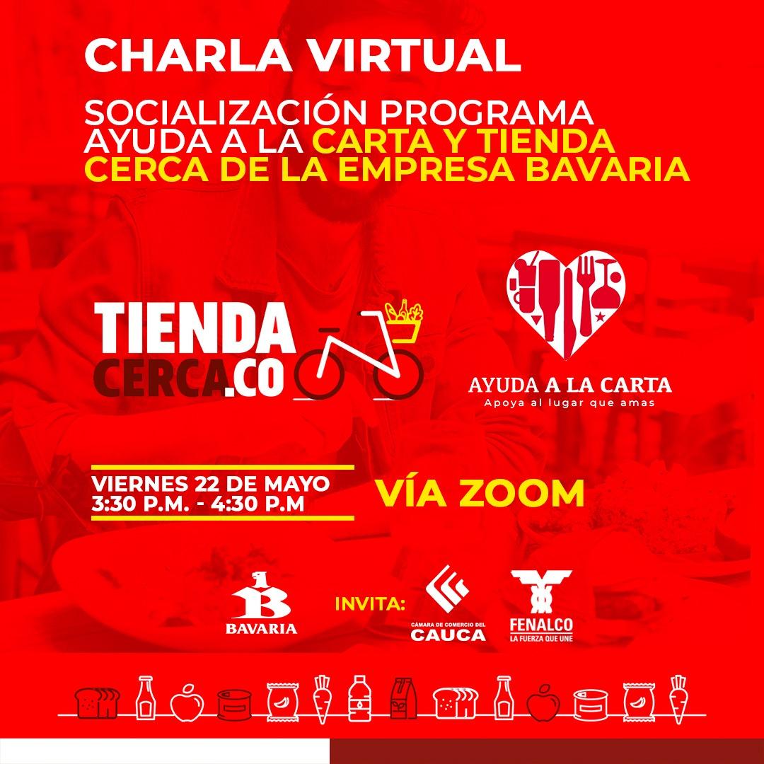 Charla virtual Gratuita: Socialización programa Ayuda a la Carta y Tienda Cerca de la Empresa Bavaria
