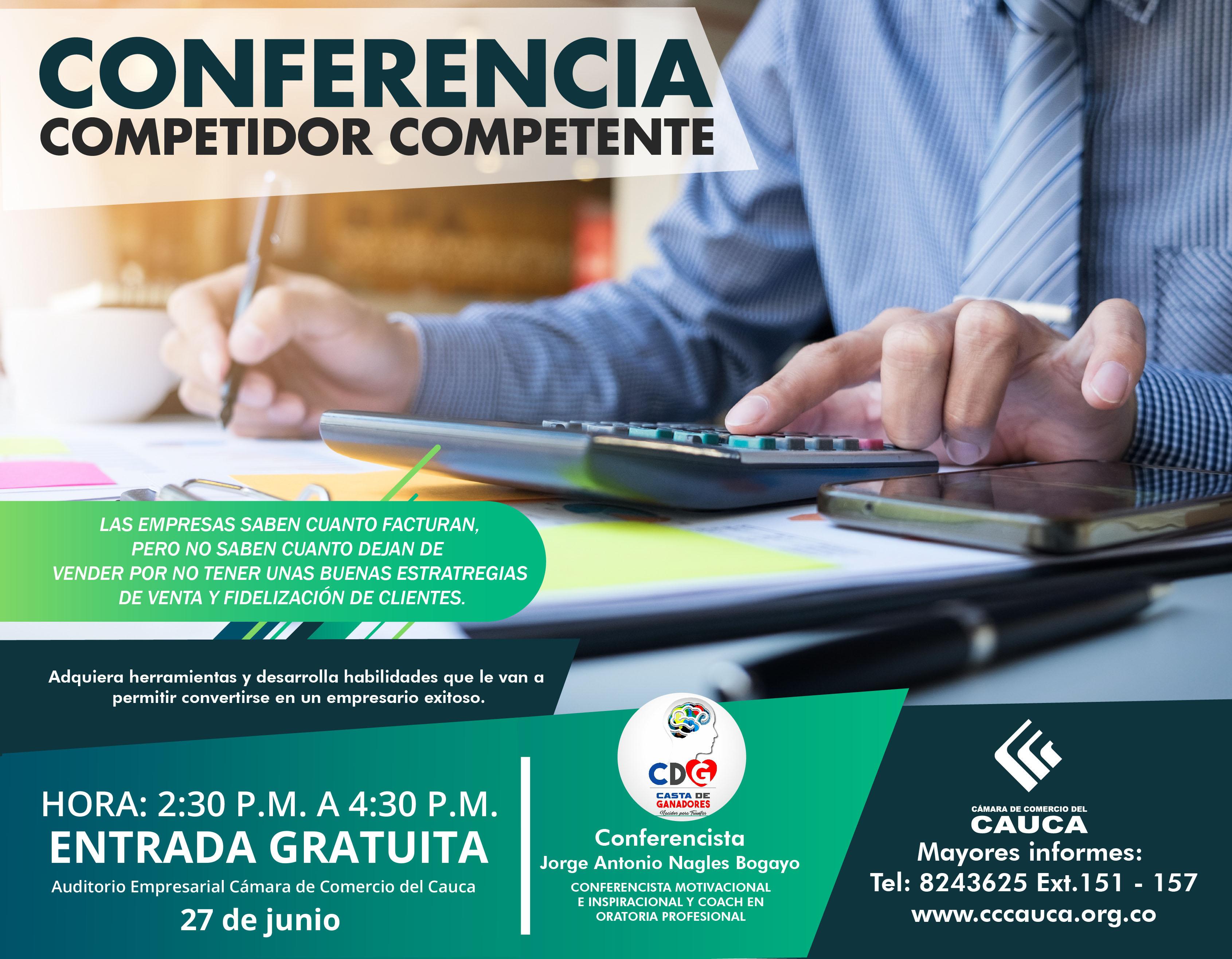 Conferencia Competidor Competente Cámara De Comercio Del