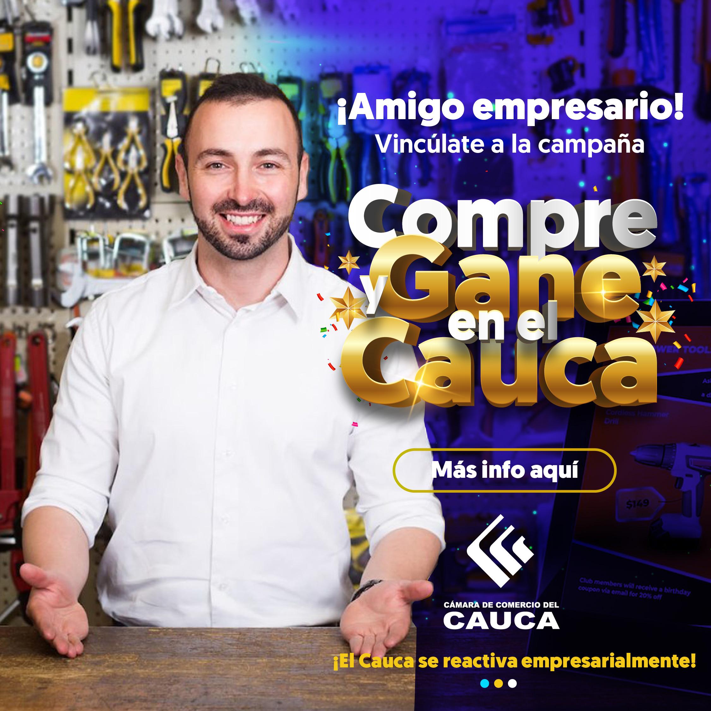 Campaña Compre y Gane en el Cauca