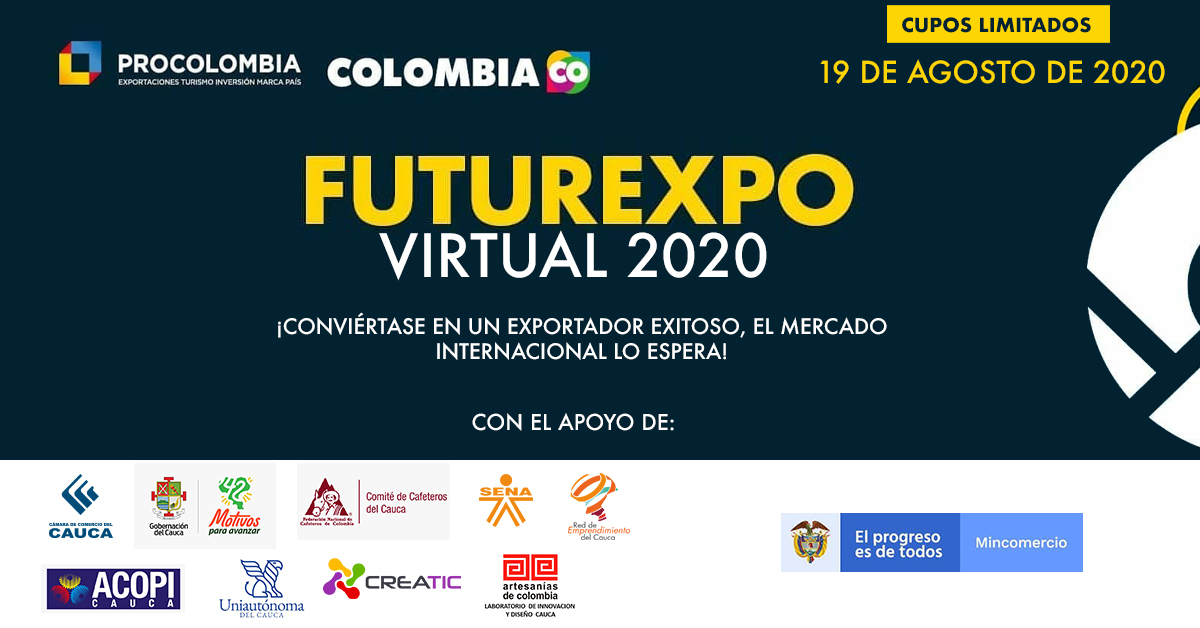 FUTUREXPO VIRTUAL CAUCA 2020 - EVENTO GRATUITO