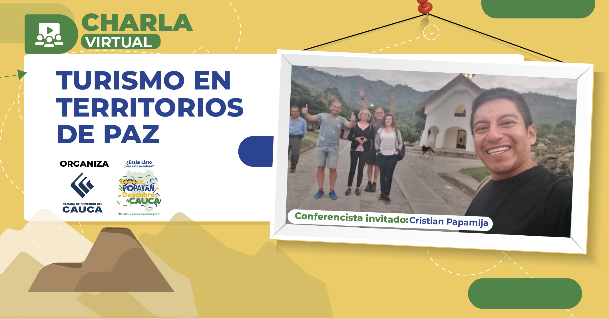 Charla virtual Cauca: Turismo en territorios de Paz