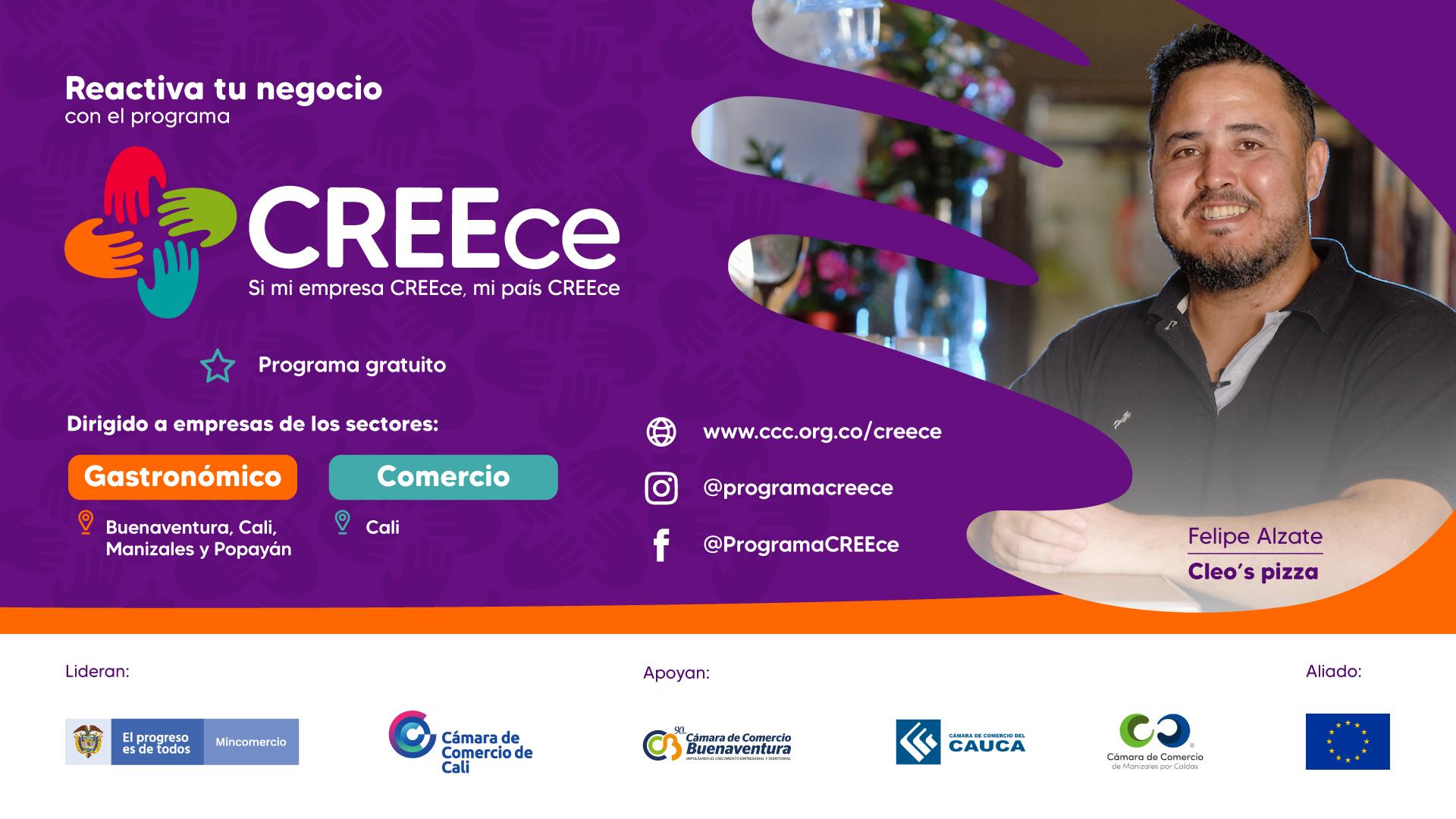 Inscríbete al Nuevo Programa Gratuito CREEce