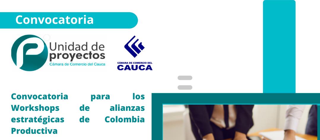 Convocatoria para los Workshops de Alianzas Estratégicas de Colombia Productiva