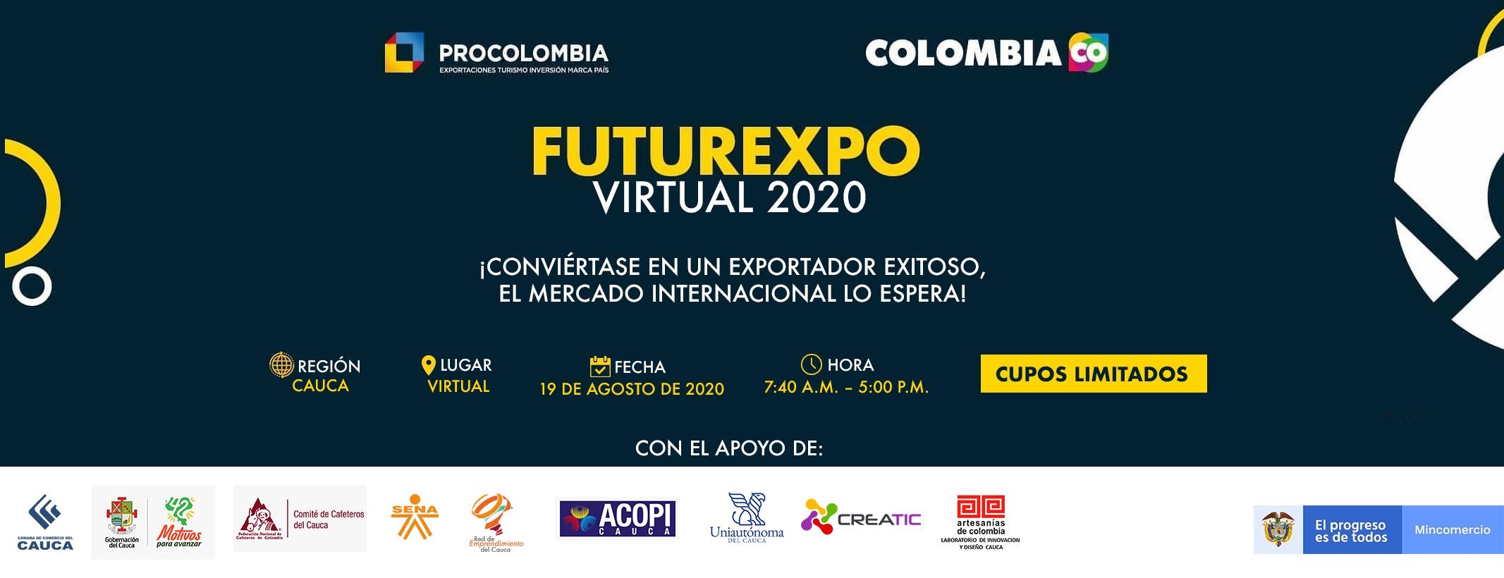 FUTUREXPO VIRTUAL CAUCA 2020 - EVENTO GRATUITO