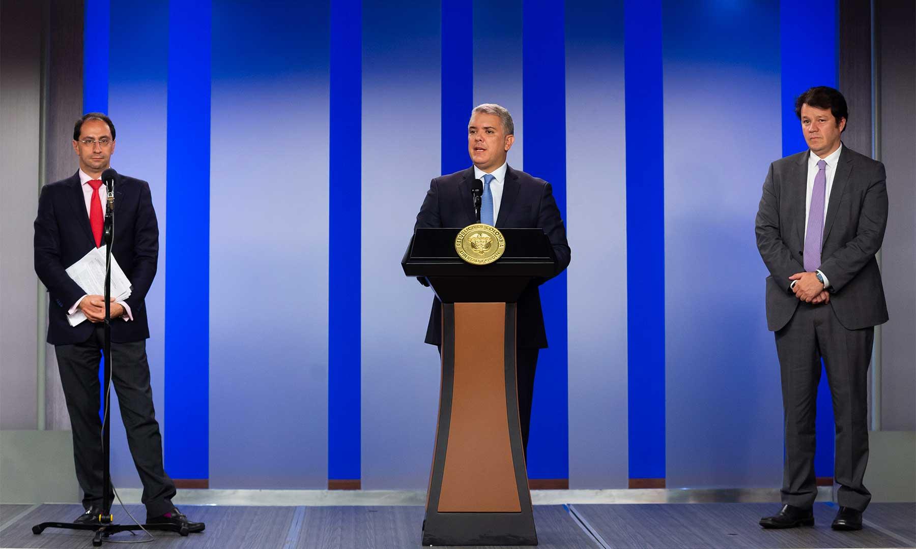 Por pandemia del coronavirus, Presidente Iván Duque anuncia un paquete de medidas económicas para mitigar efectos en los sectores de turismo y aviación