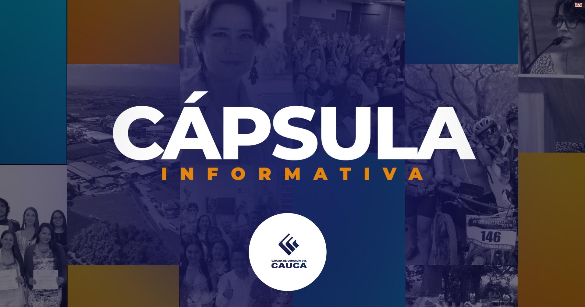 Cápsula Informativa N° 15   Seguimos trabajando por el Cauca
