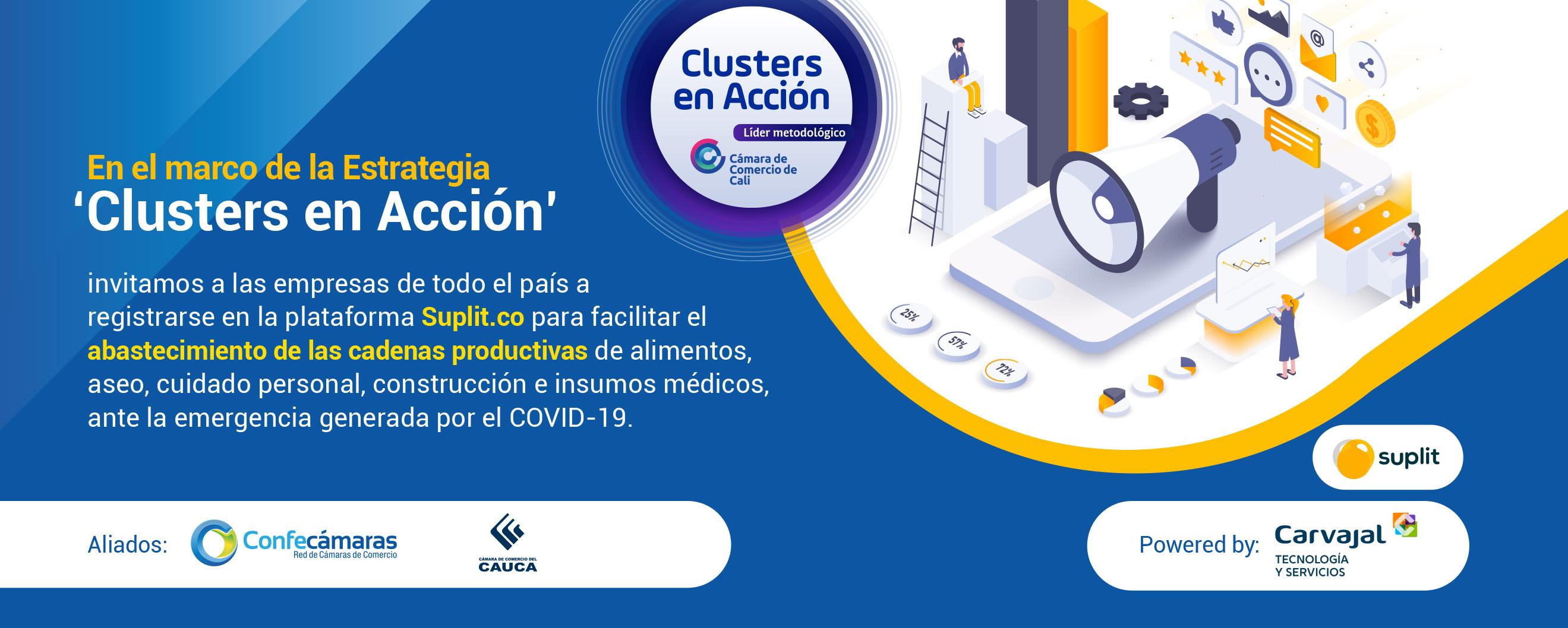 Clusters en Acción - Inscriba su Empresa para facilitar el abastecimiento de las cadenas productivas