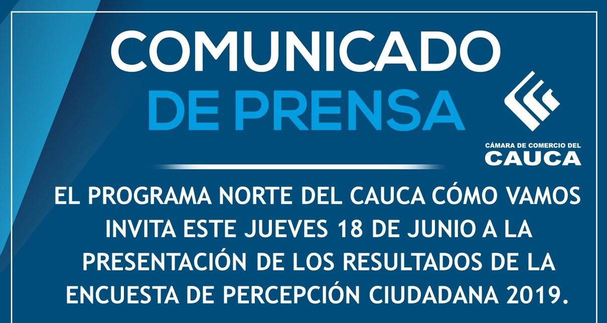 Comunicado de Prensa N°1 - Norte del Cauca Cómo Vamos