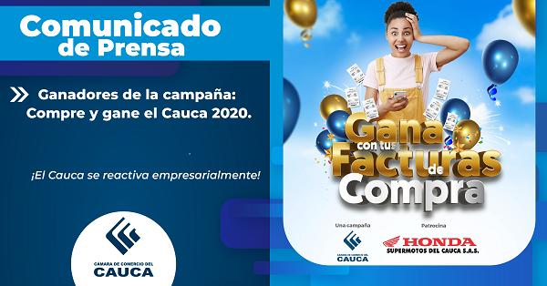 Comunicado de Prensa: Ganadores de la campaña: Compre y gane el Cauca