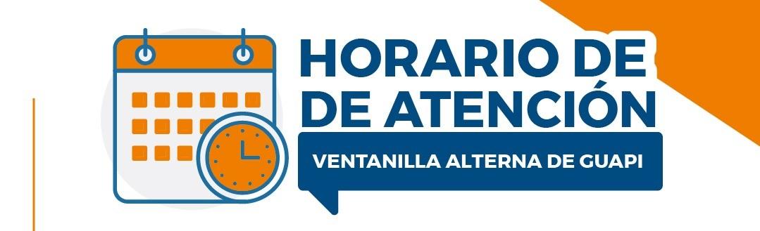 Horarios de atención - Ventanilla Alterna de Guapi del 1 al 3 de septiembre