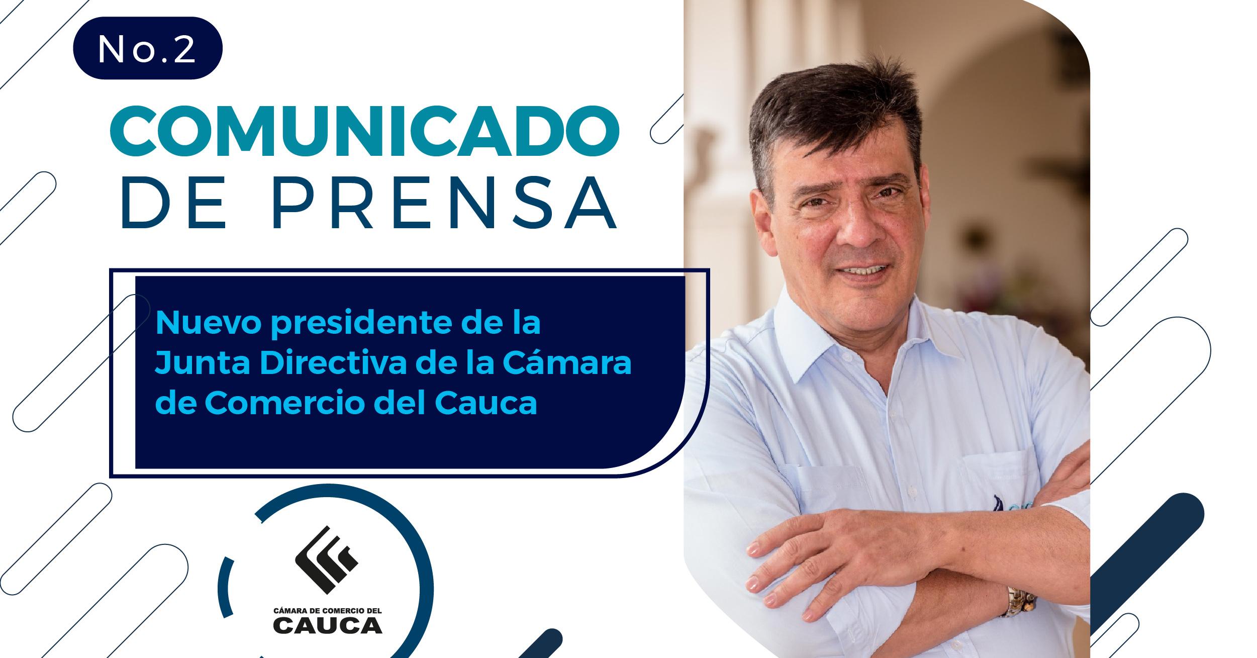 Llega a la presidencia de la Junta Directiva de la Cámara de Comercio del Caucael IngenieroSerrano Rueda, destacadolíder que trabaja por el desarrollo sostenible y empresarial de la región