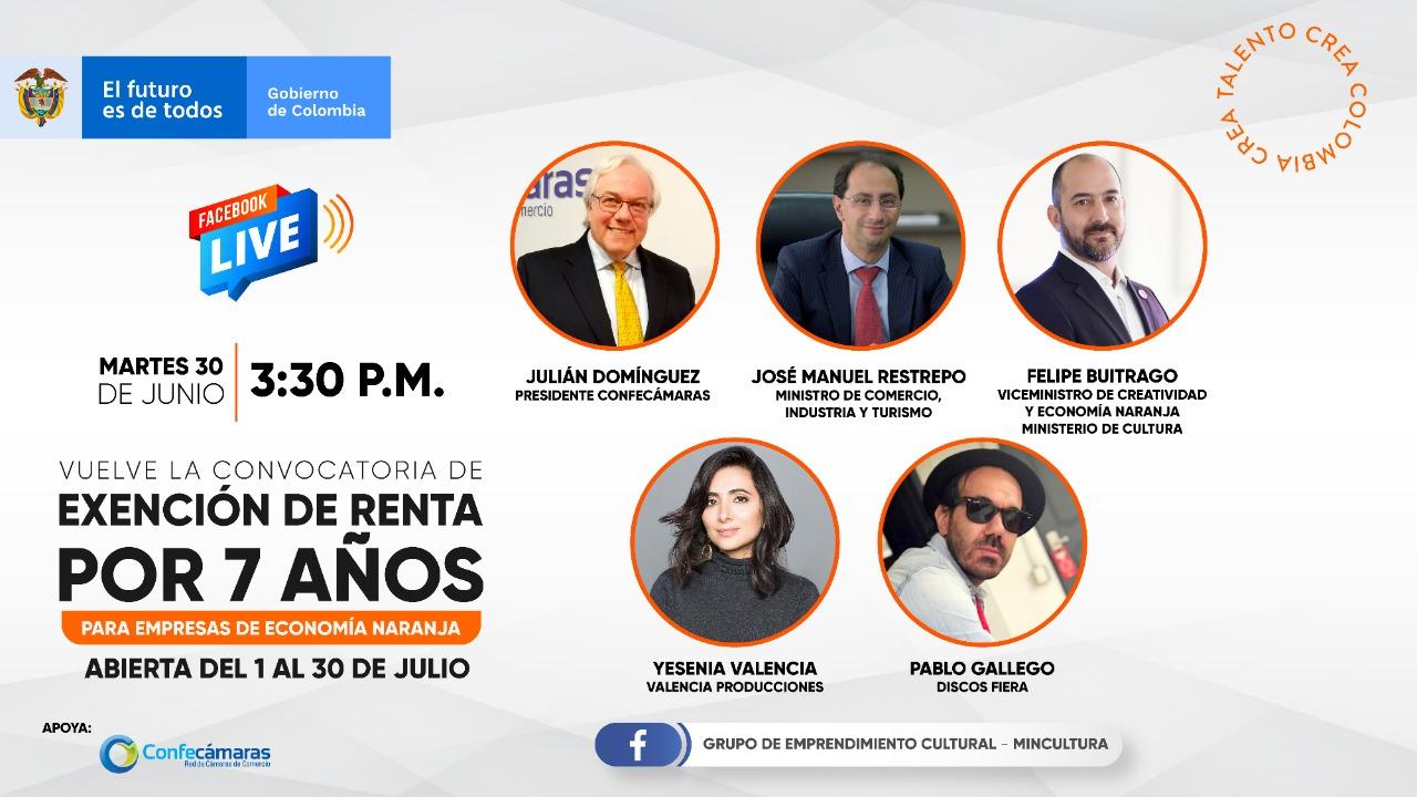 Convocatoria beneficios a empresas de Economía Naranja