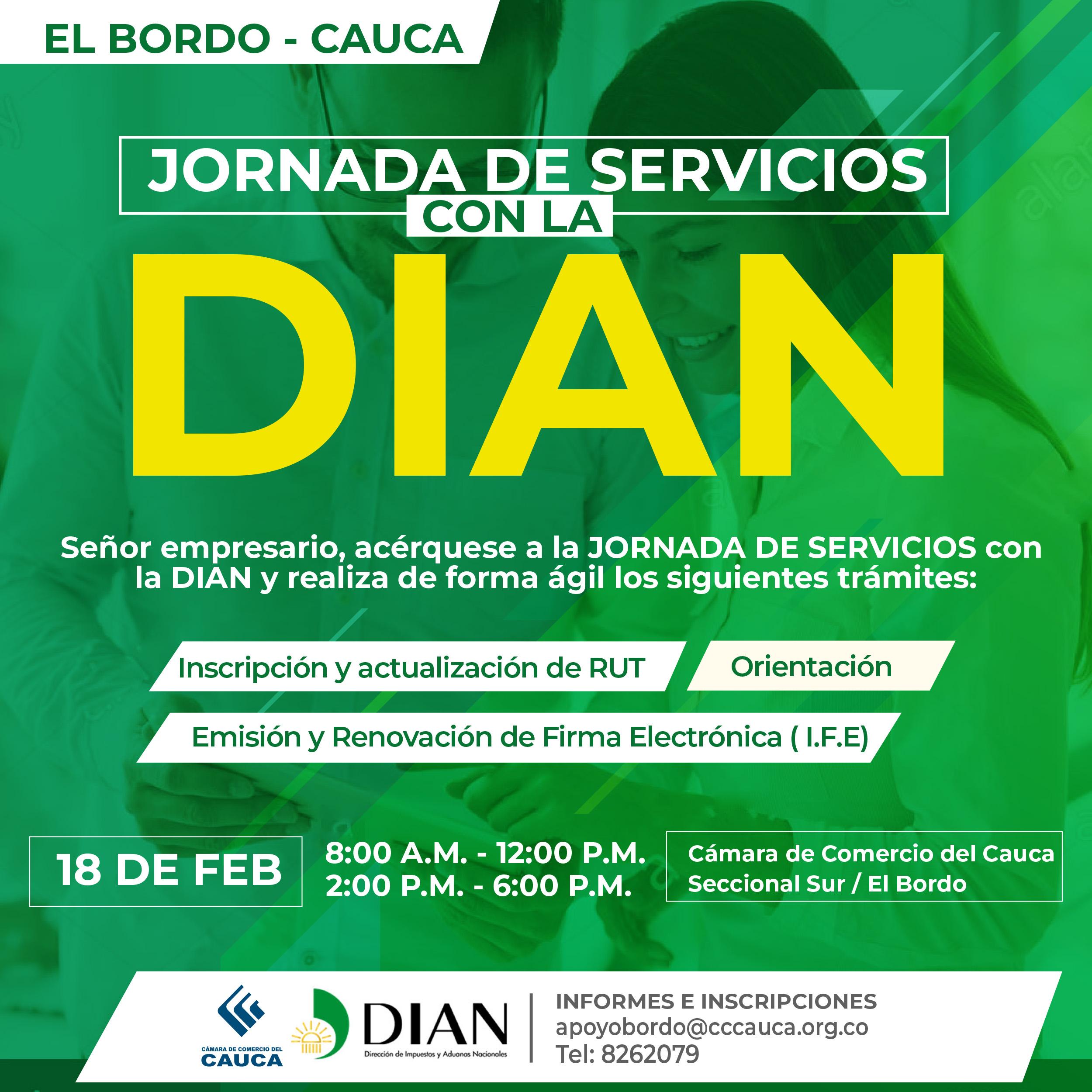 Jornada de Servicios con la DIAN en el Bordo Cauca