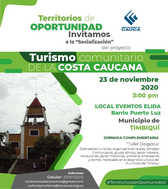 Socialización del proyecto Turismo comunitario de la Costa Caucana.